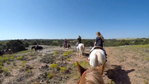 Horseback riding at Roman Nose State Park's V Bar Stables