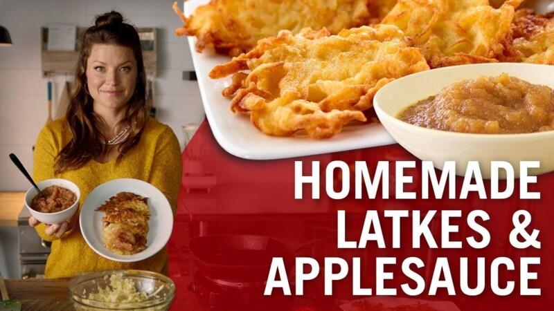 How to Make Latkes (Potato Pancakes) & Homemade Applesauce
