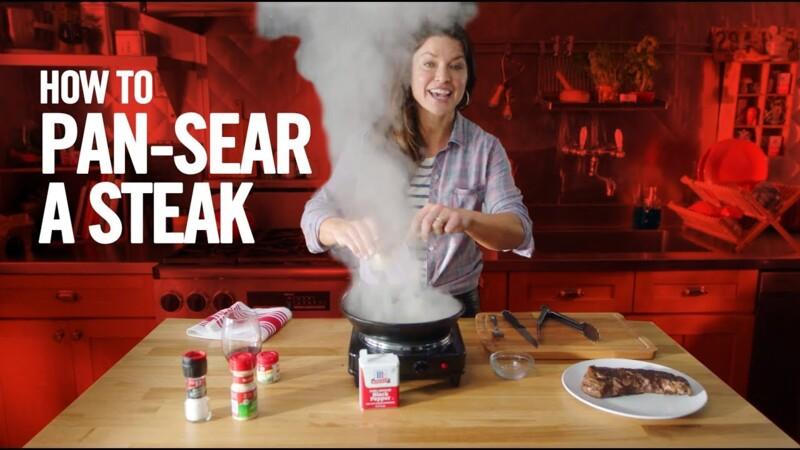 Pan-Seared Steak & Red Wine Sauce