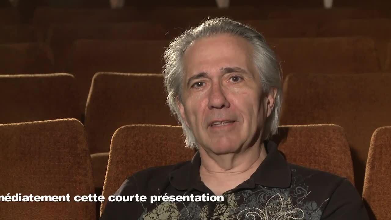 Roger Cantin présente son film L'assassin jouait du trombone