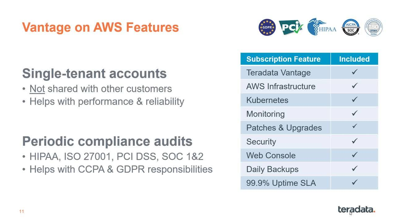 AWS Options for Teradata Vantage