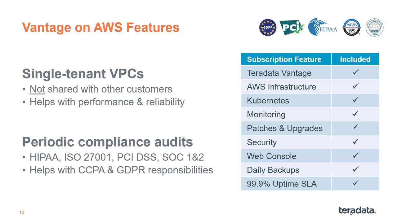 AWS Options for Teradata Vantage