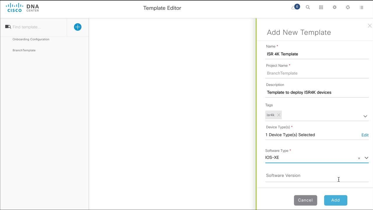 How to Create a Regular Template to Automate Device Deployments in Cisco  DNA Center