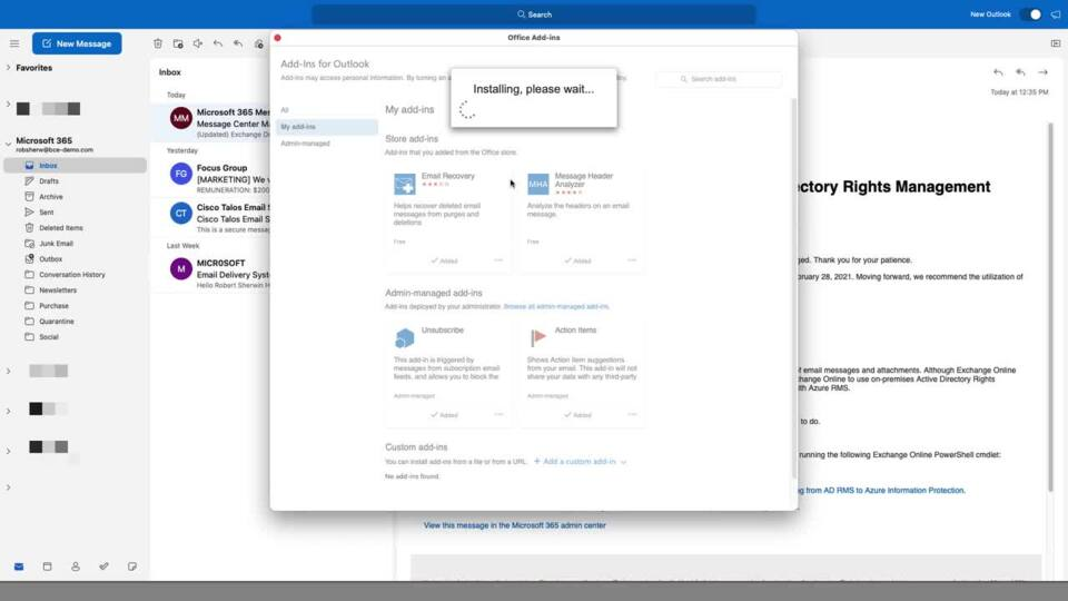 Cisco Secure Email Submission Add-in (Outlook Install)   Cisco Virtual Events