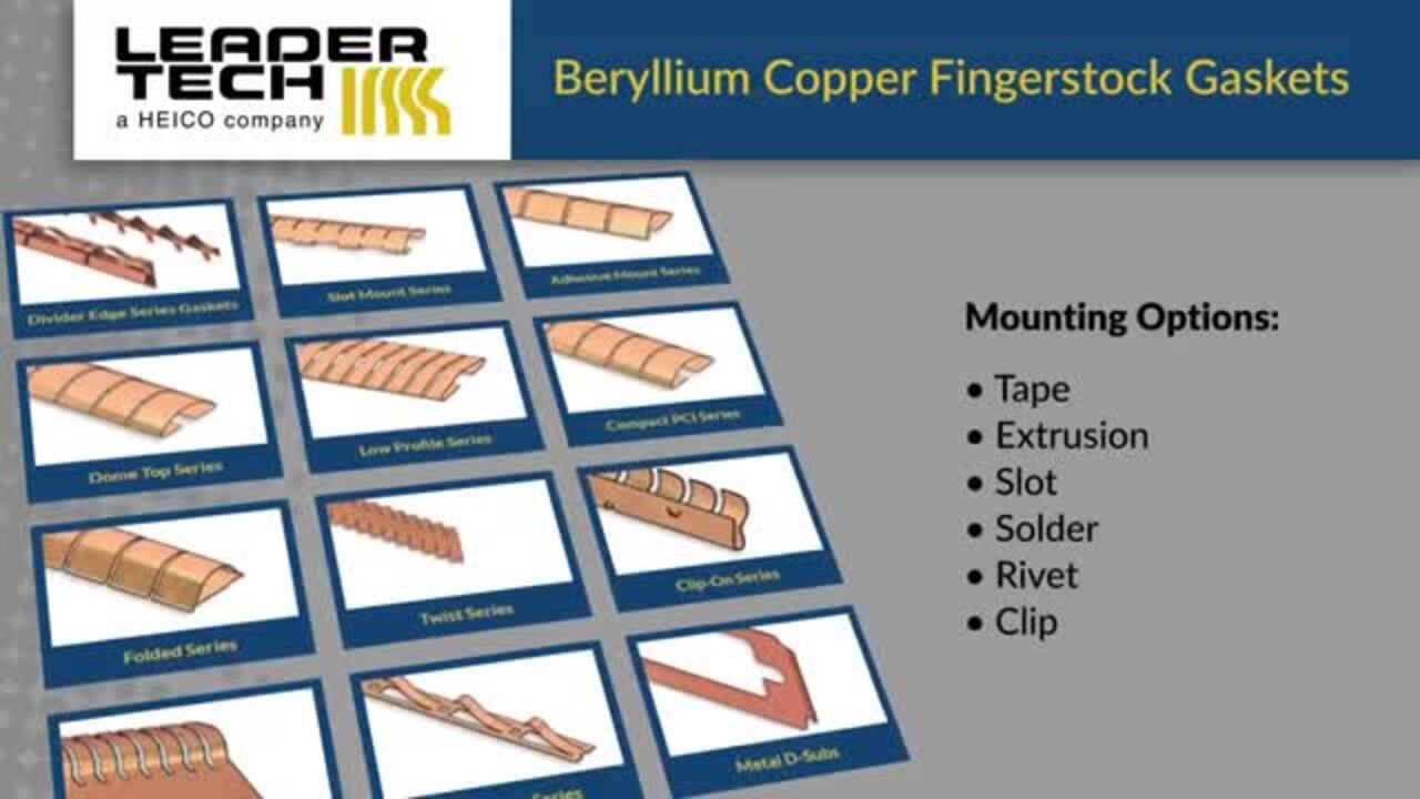 Beryllium Copper Fingerstock Gaskets