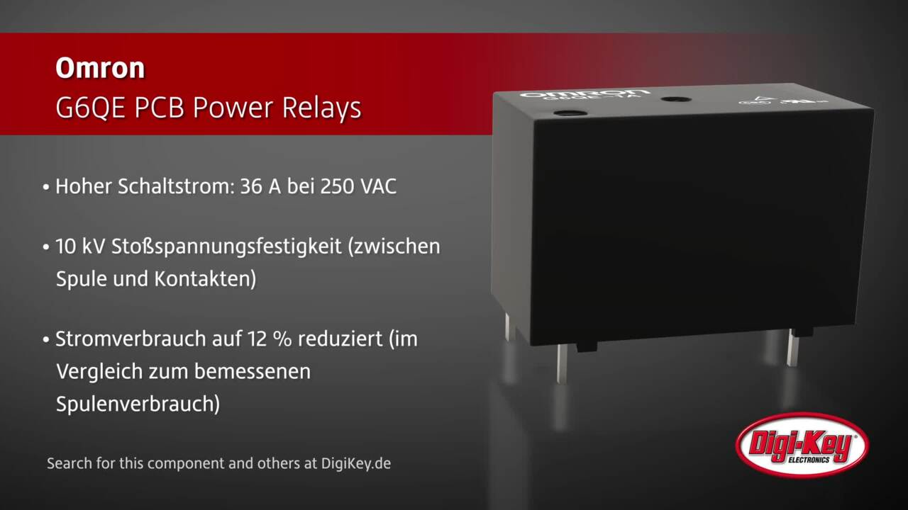 Omron G6QE PCB Power Relays | Digi-Key Daily