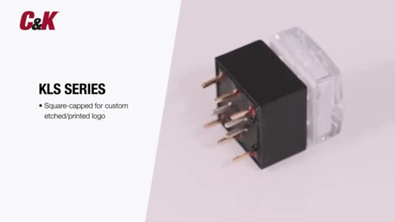 C&K's PLP16 Series & KLS Series Illuminated Pushbutton Switches