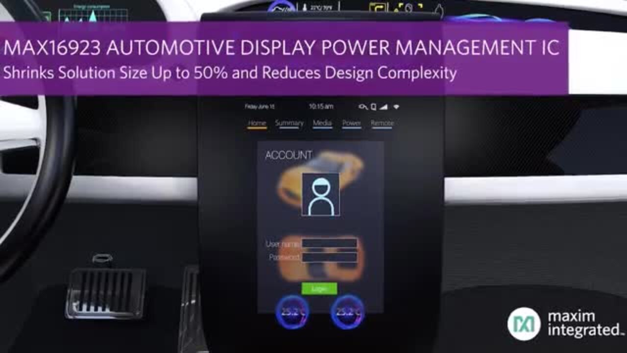 Simplify System Power Designs and Achieve Bigger, Sharper Automotive Displays