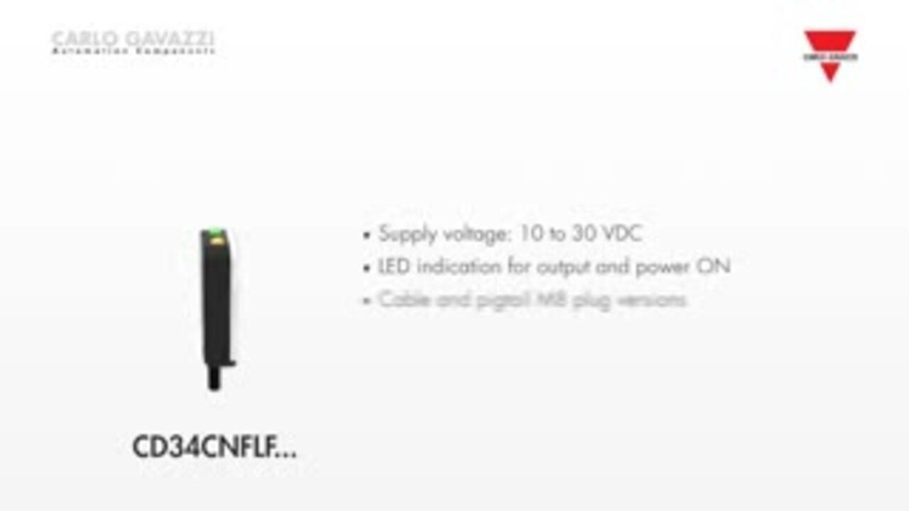 CD34CNFLF - Capacitive liquid level sensors
