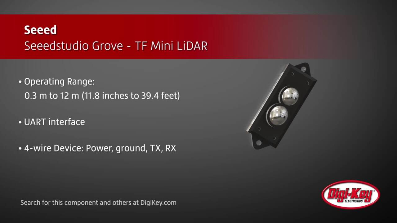 Seeed Seeedstudio Grove - TF Mini LiDAR | Digi-Key Daily