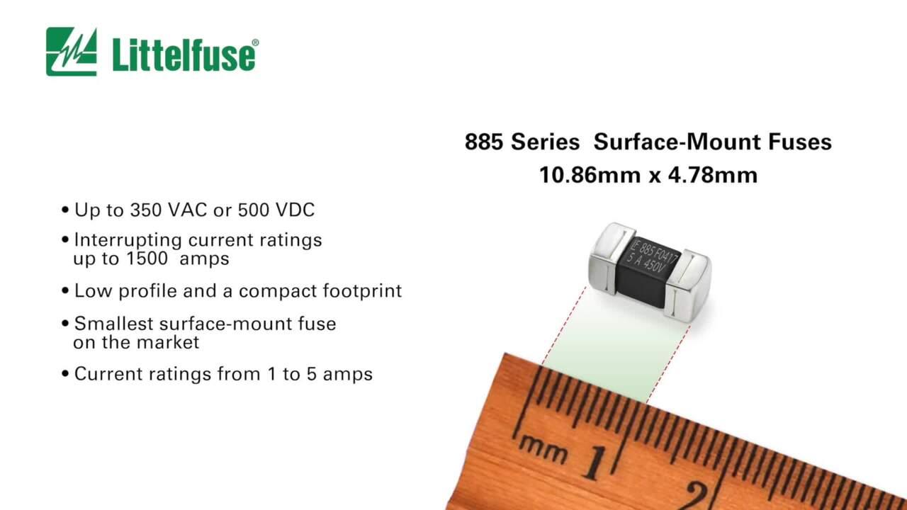 NANO2® High-Voltage 500 V DC SMT Fuses – 885 Series