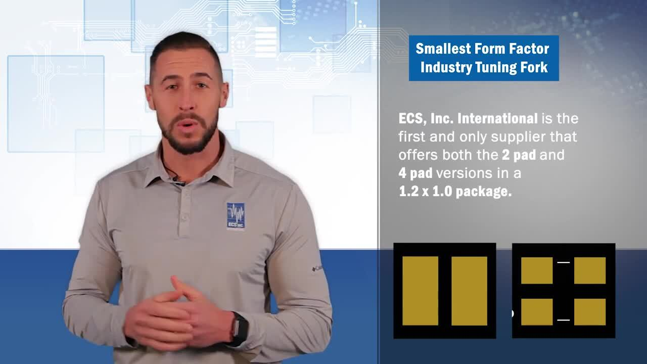ECS Inc. International Offers the Smallest Form Factor Crystal Tuning Forks