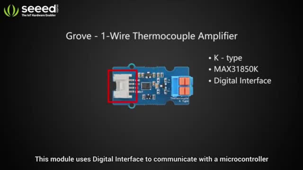 Grove - 1-Wire Thermocouple Amplifier