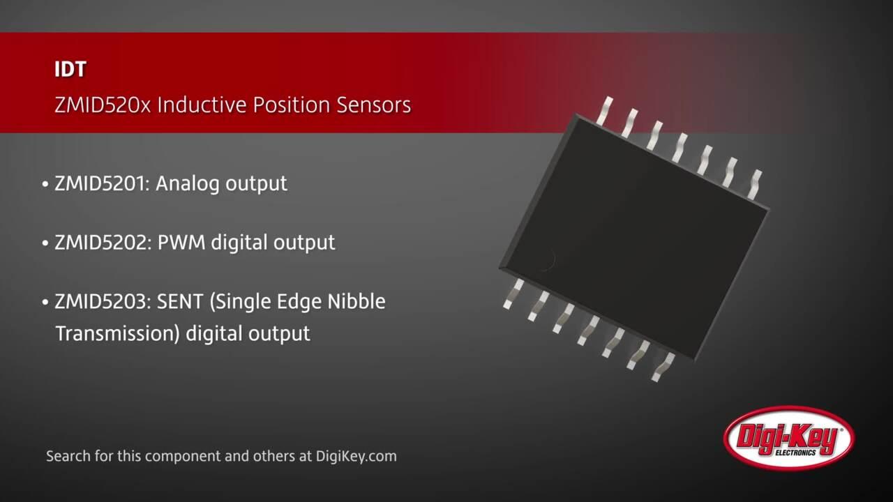 IDT ZMID520x Inductive Position Sensors | Digi-Key Daily