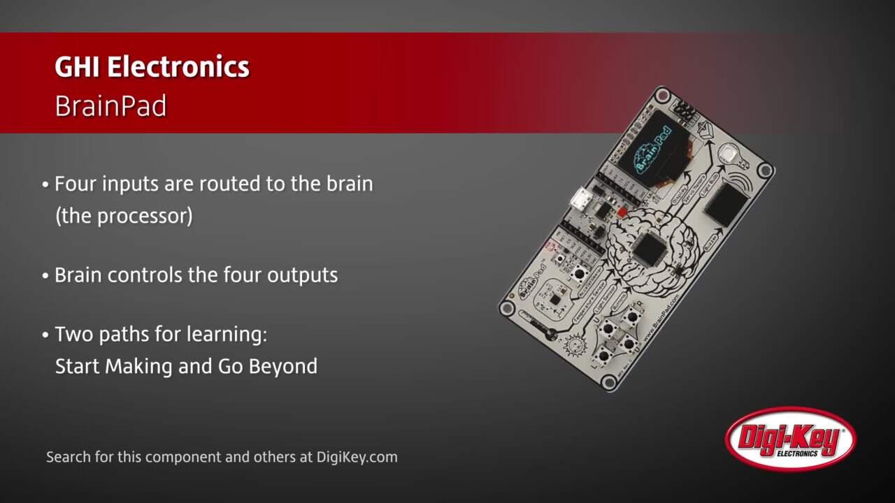 GHI Electronics  BrainPad | Digi-Key Daily