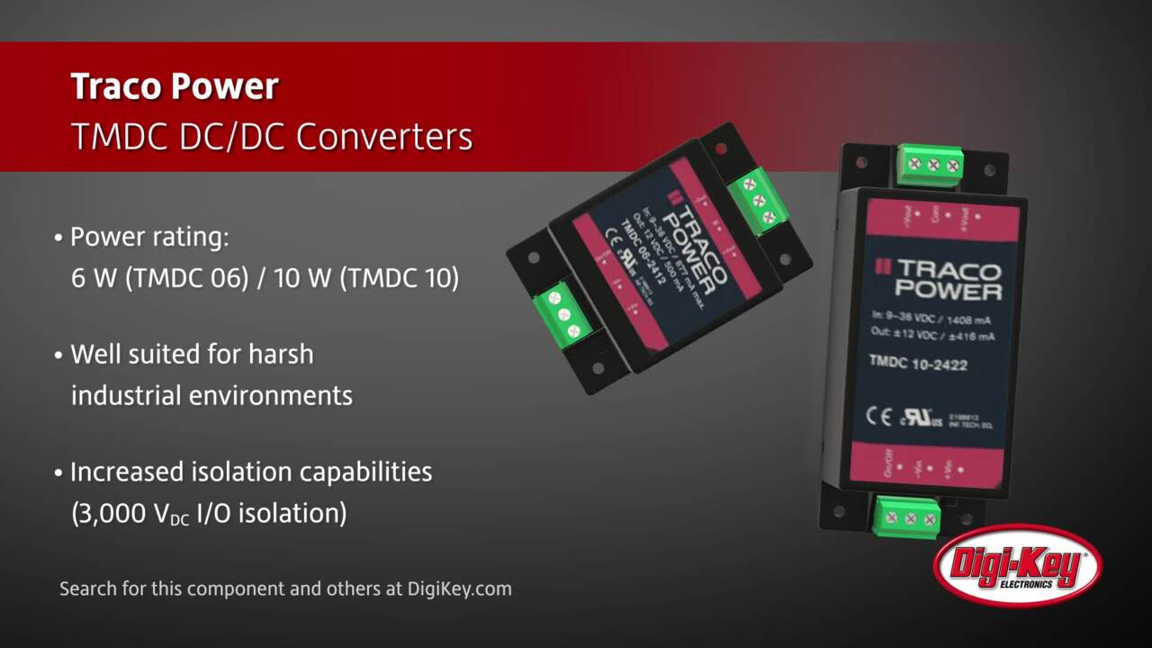 TRACO Power TMDC  DC/DC Converters | Digi-Key Daily