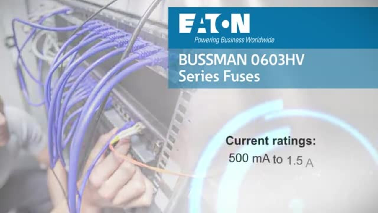 Bussmann Series 0603HV Fuse for RJ45 I/O Connector Applications