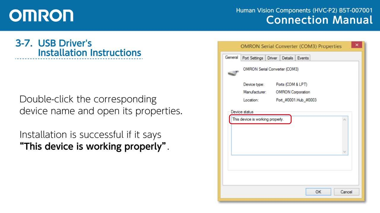 HVC-P2 Connection Manual | B5T-007001 Human Vision Components