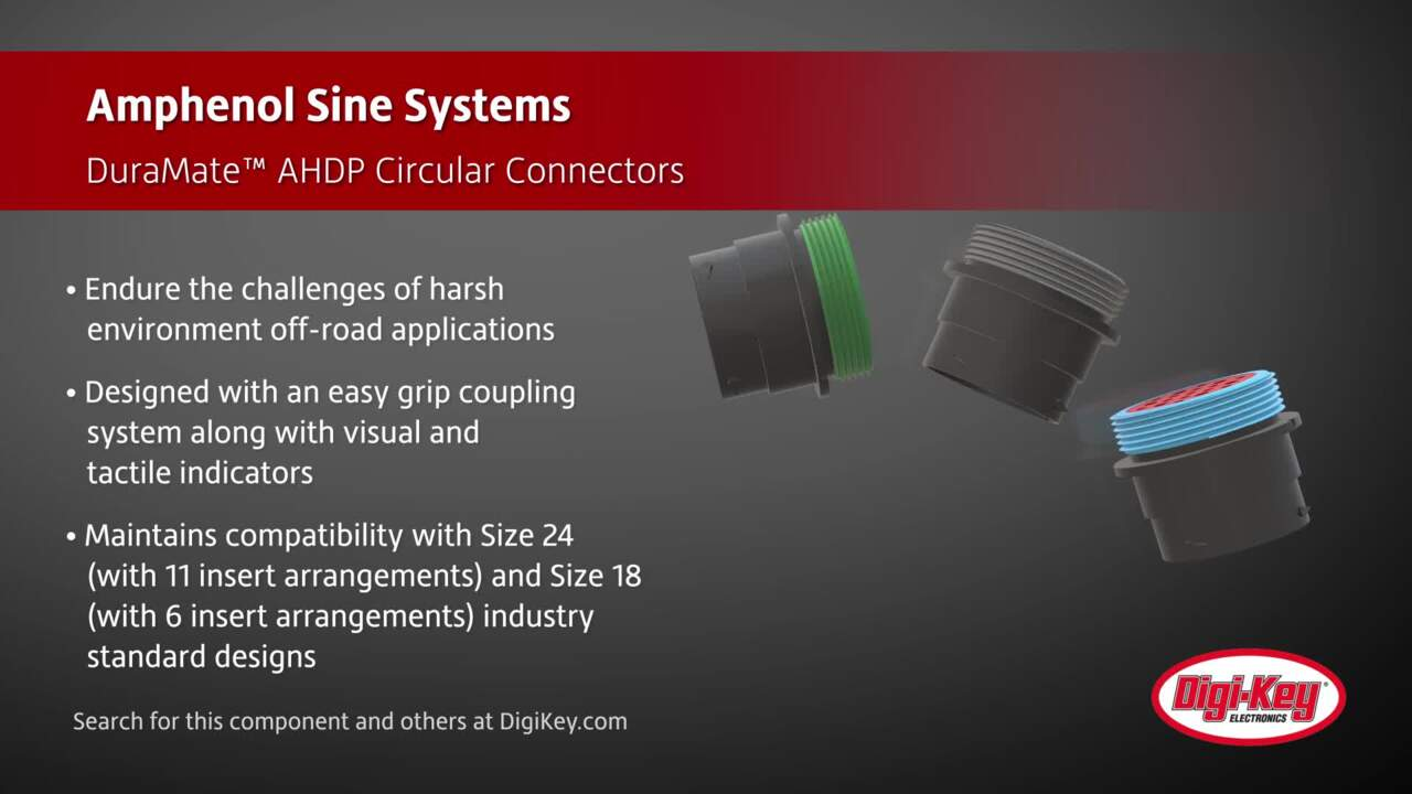 Amphenol Sine Systems DuraMate™ AHDP Connectors | Digi-Key Daily