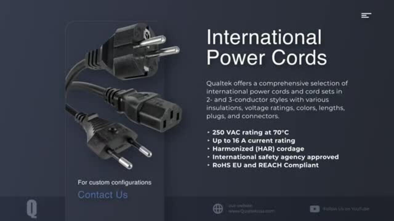 Qualtek Power Cords