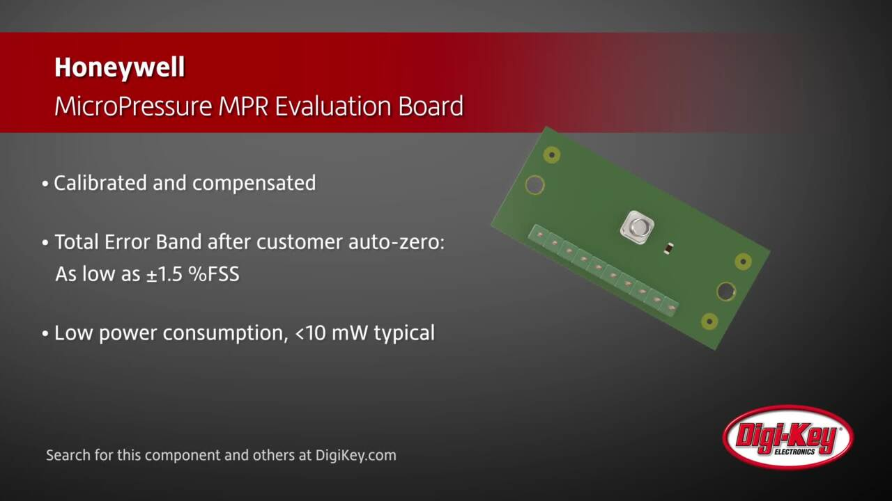 Honeywell MicroPressure MPR Eval Board | Digi-Key Daily