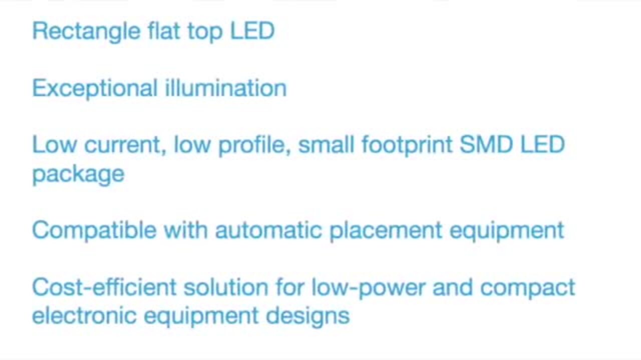 LSM0603 SMD LED Package - Low Profile Small Footprint and Exceptional Illumination
