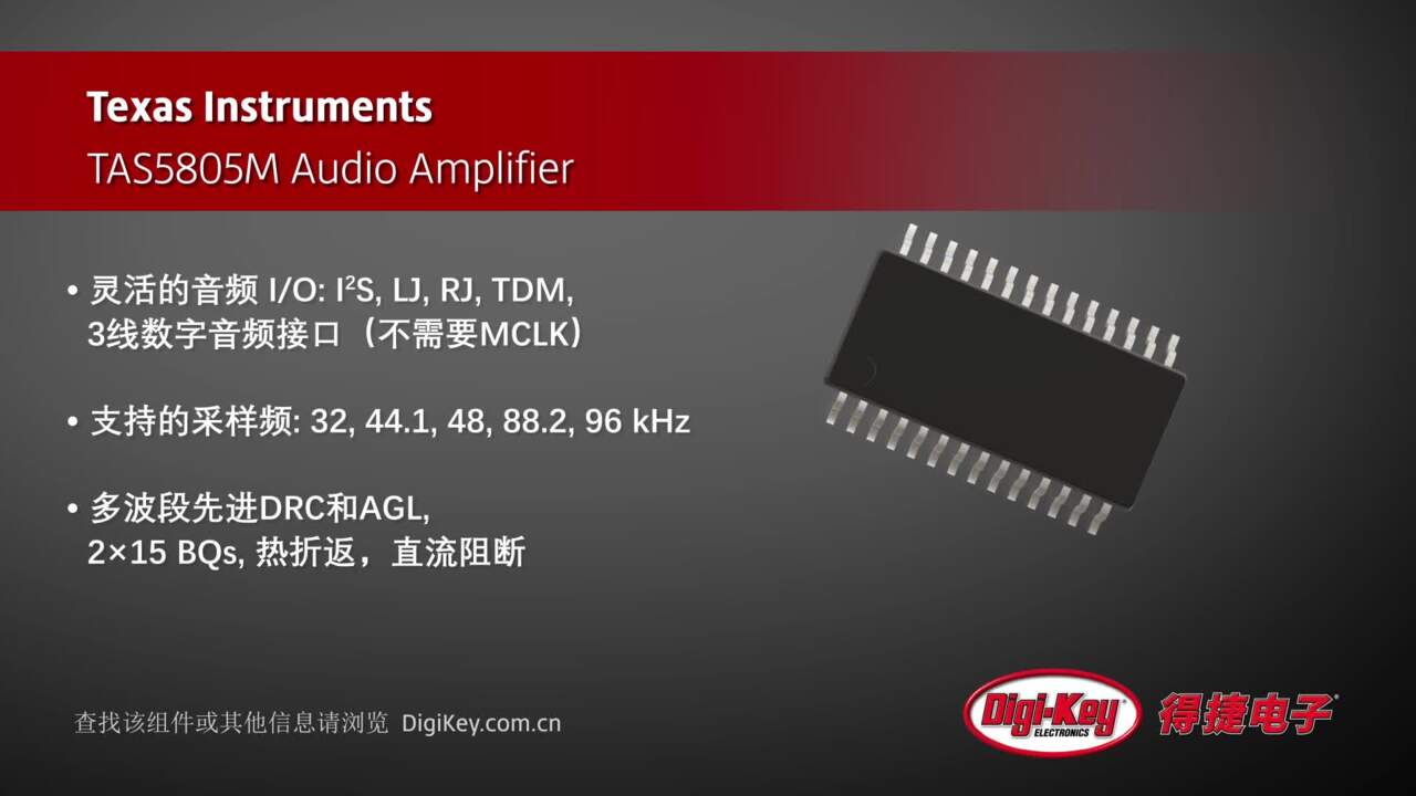 Texas Instruments TAS5805M Audio Amplifier | Digi-Key Daily