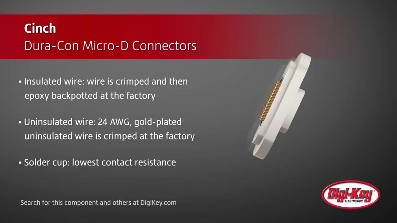 Cinch Dura-Con Micro-D Connectors | Digi-Key Daily
