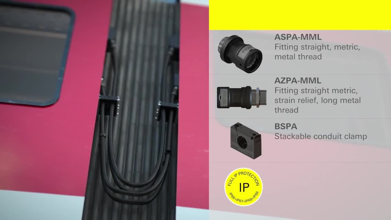 Cable protection for railway applications - FIPSYSTEMS® - FRÄNKISCHE Industrial Pipes