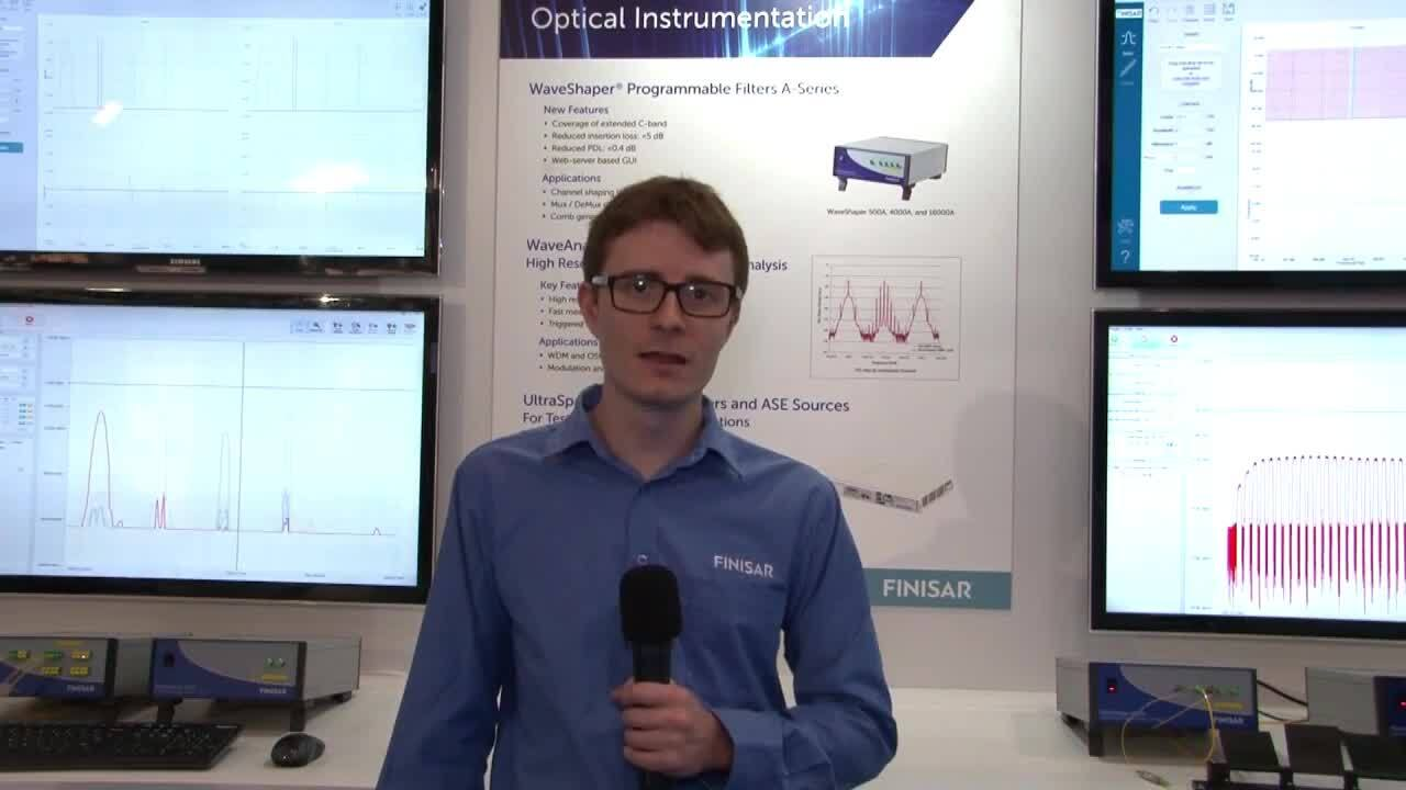 Finisar Demonstrates WaveShaper Instrument A-Series Filters at ECOC 2016