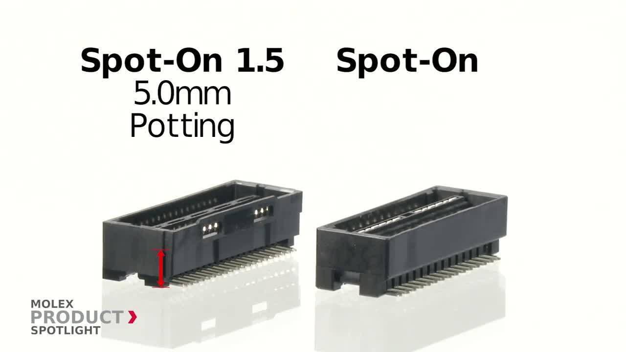 Molex - Product Spotlight - Spot-On 1.5 and 2.0 Wire-to-Board Connector System