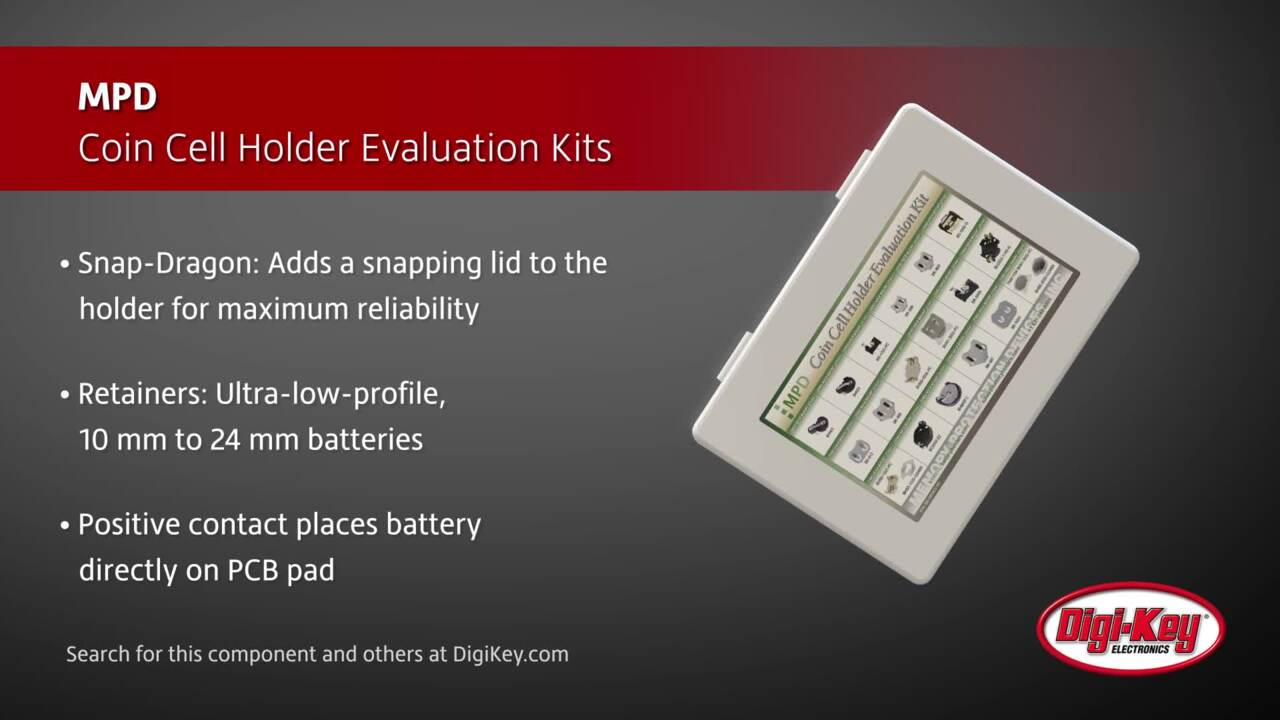 MPD Coin Cell Holder Evaluation Kits | Digi-Key Daily