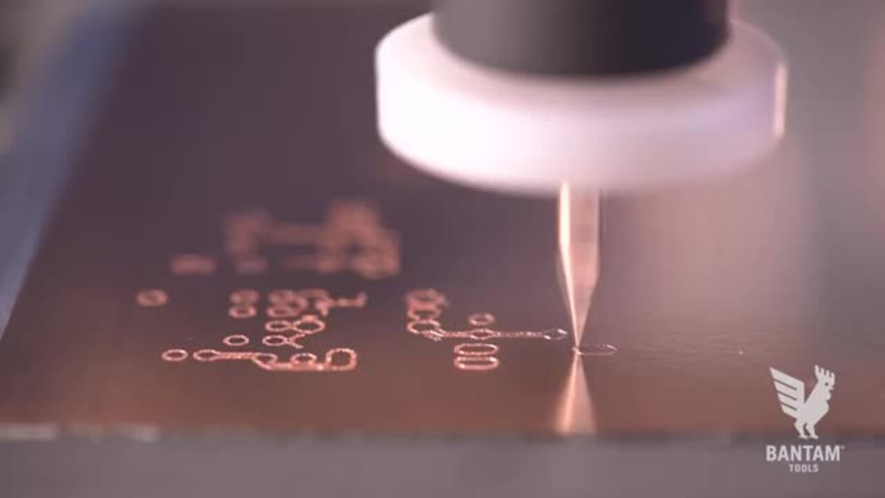 Milling 18-mil traces on a Double Sided PCB