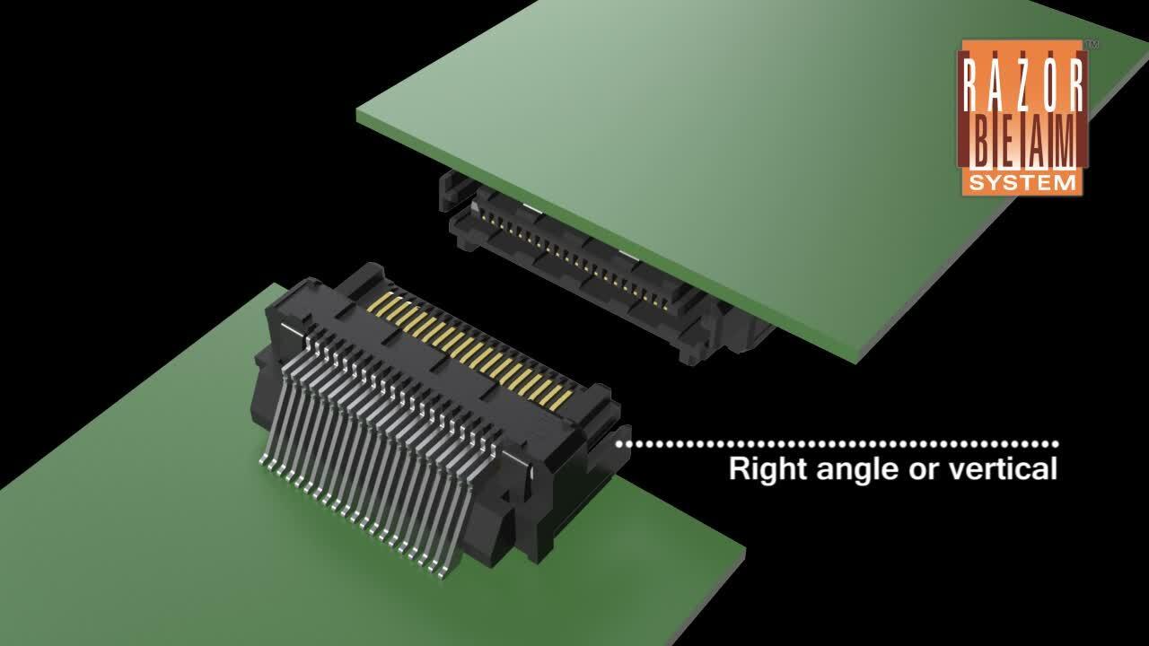 Razor Beam™ Ultra-Low Profile Connectors