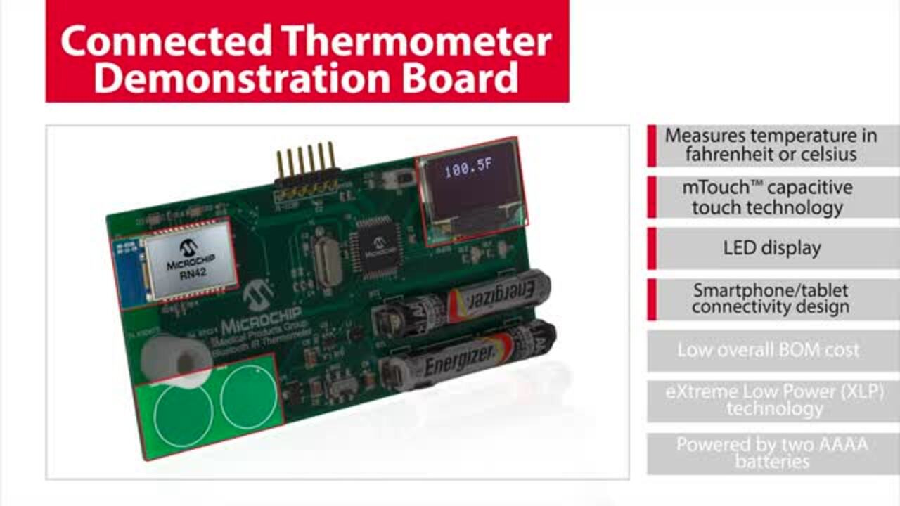 Microchip's Connected Thermometer Demonstration