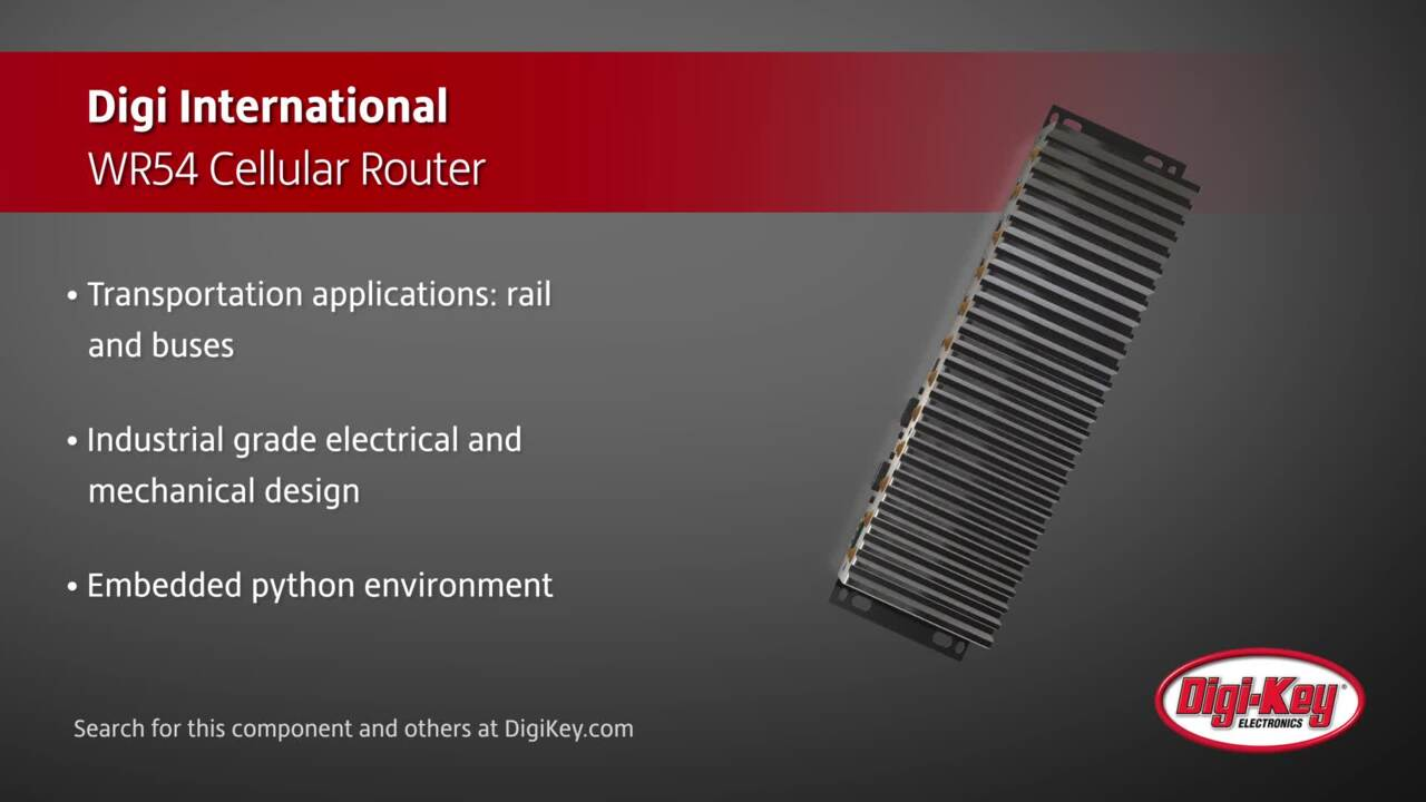 Digi International WR54 Cellular Router | Digi-Key Daily