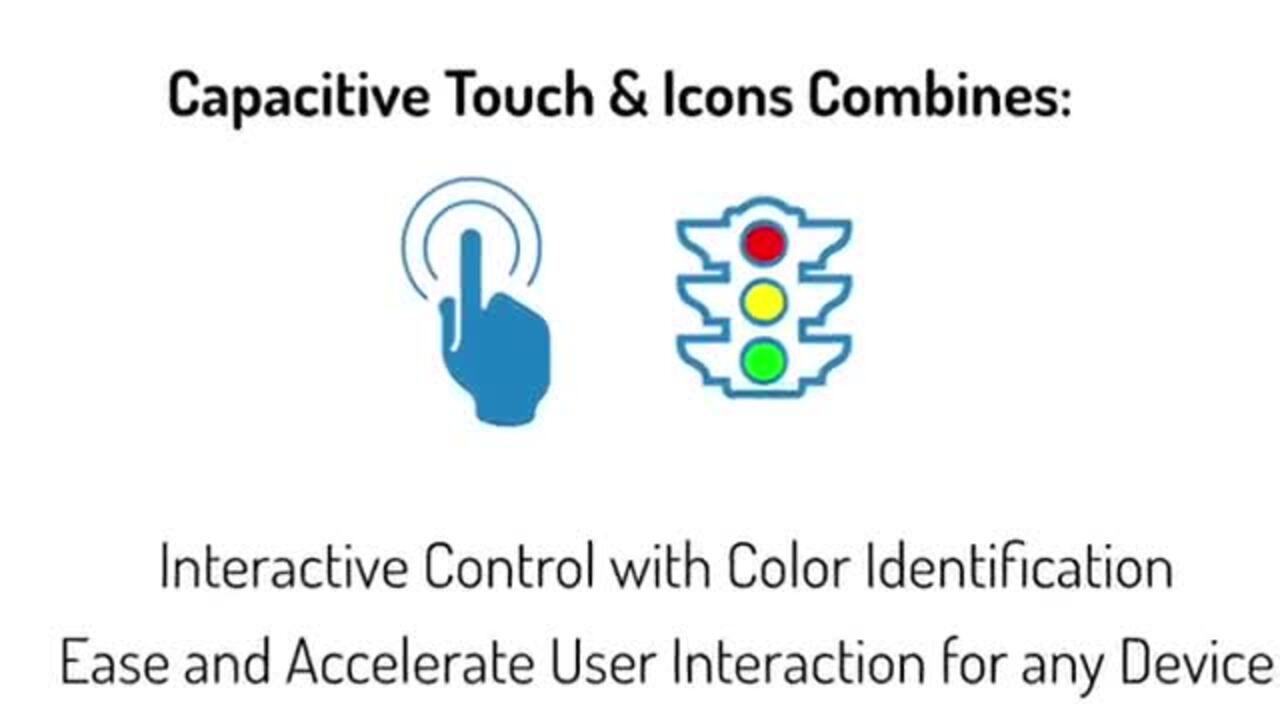 Capacitive Touch Sensor LED Display - CSM Series - VCC