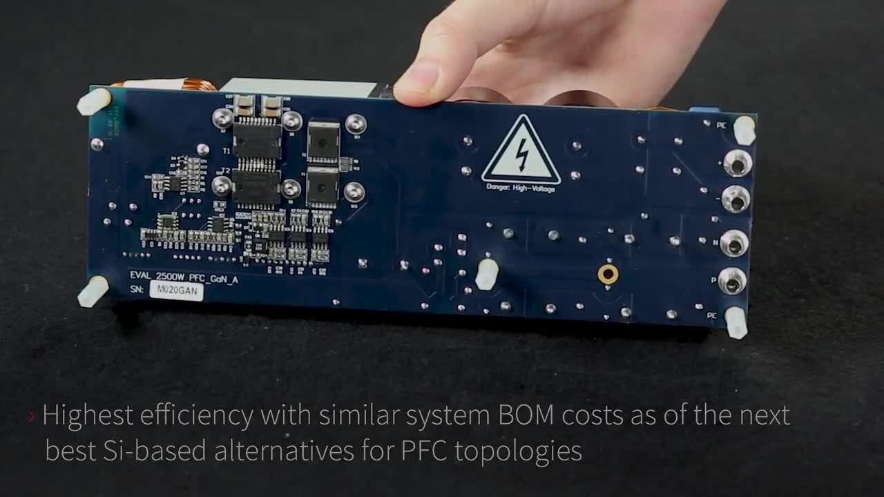 2500 W full-bridge totem pole PFC evaluation board using gallium nitride CoolGaN™ 600 V e-mode HEMT