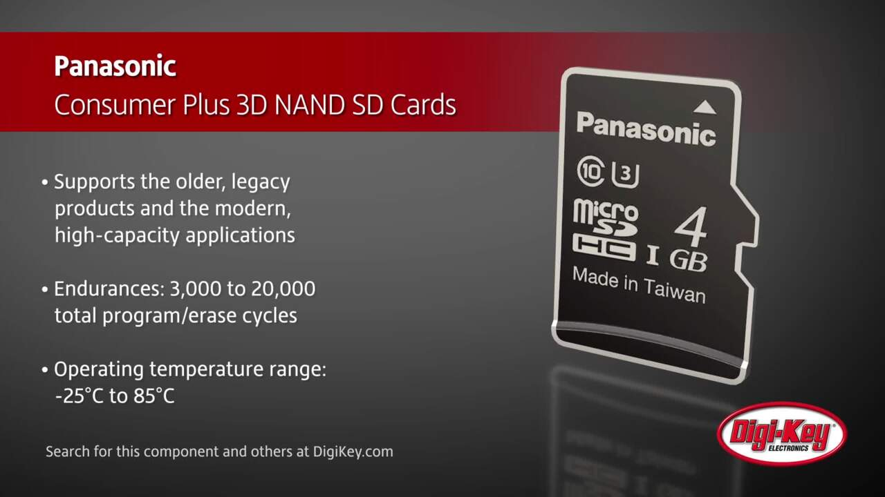Panasonic Consumer 3D NAND SD Cards | Digi-Key Daily