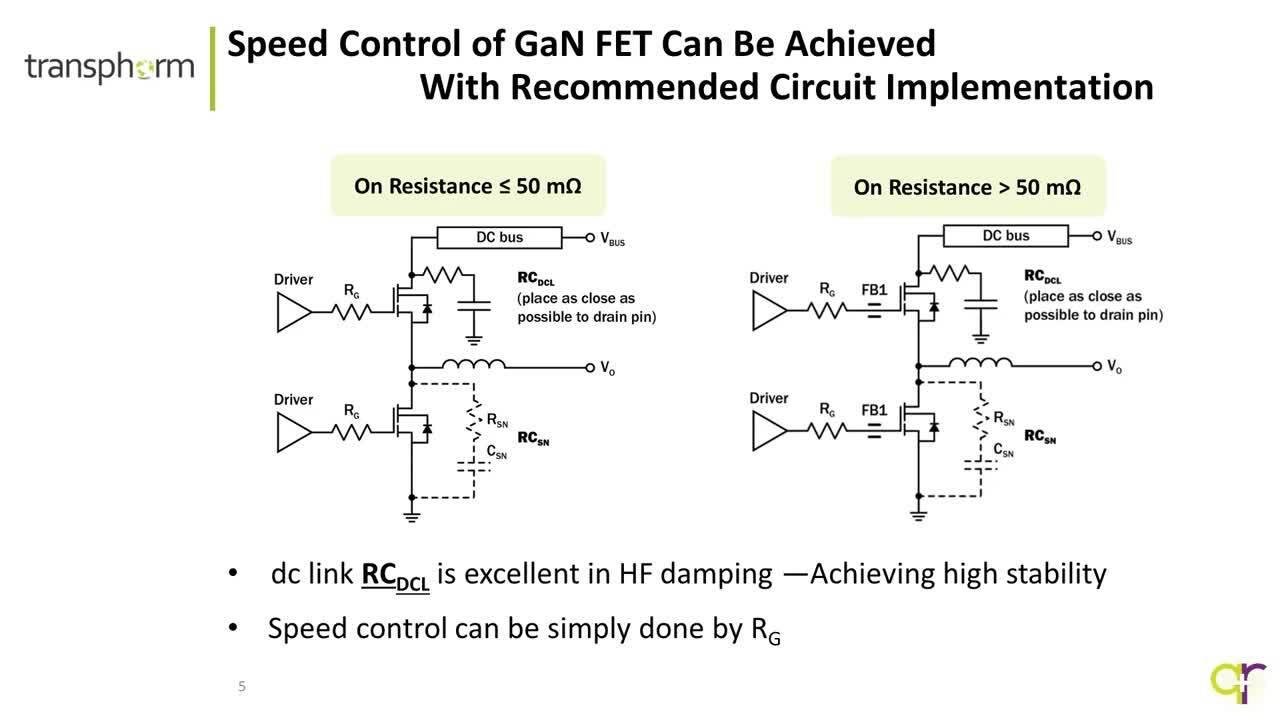 Transphorm Cascode GaN FET Slewrate Control Ver 1 2