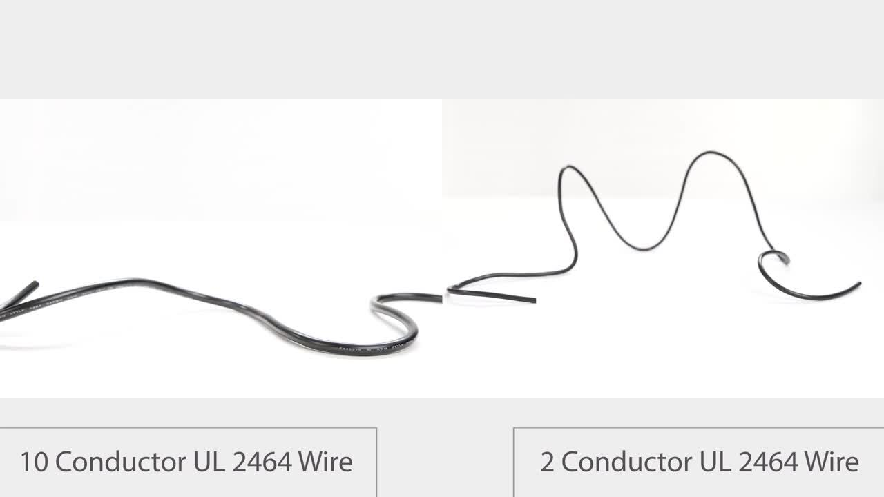 Compare Tensility 2 Conductor and 10 Conductor UL 2464 Wire