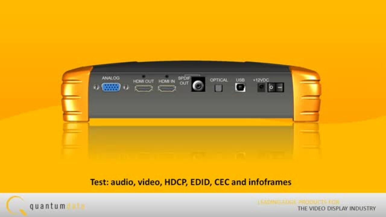Quantum Data 780 Test Instrument for HDMI - Quick Overview
