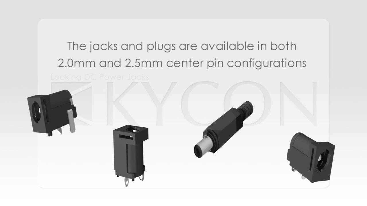 Locking DC power plugs and jacks
