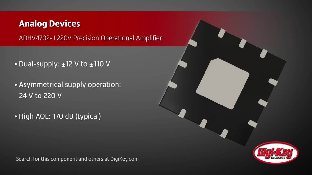 Analog Devices ADHV4702-1 Operational Amplifier | Digi-Key Daily