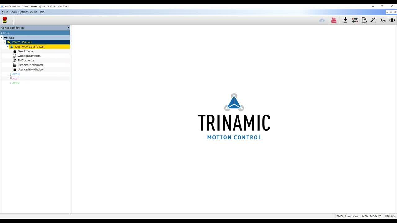Getting started with the TRINAMIC TMCM-3212 module