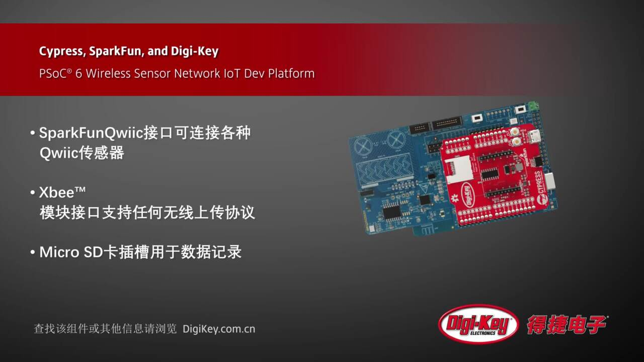 Cypress PSoC 6 Wireless Sensor Network IoT | Digi-Key Daily