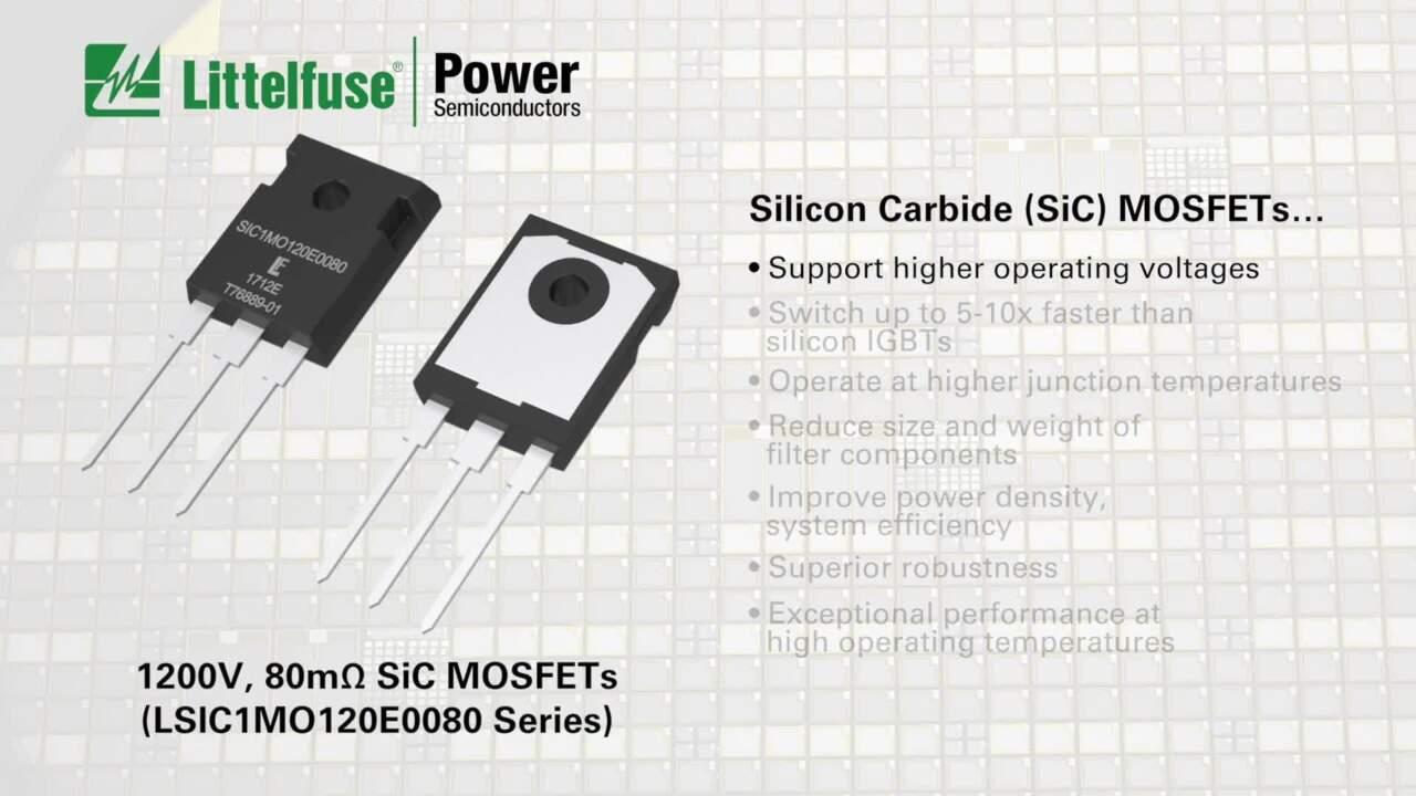1200 V, 80 mOhm SiC MOSFET