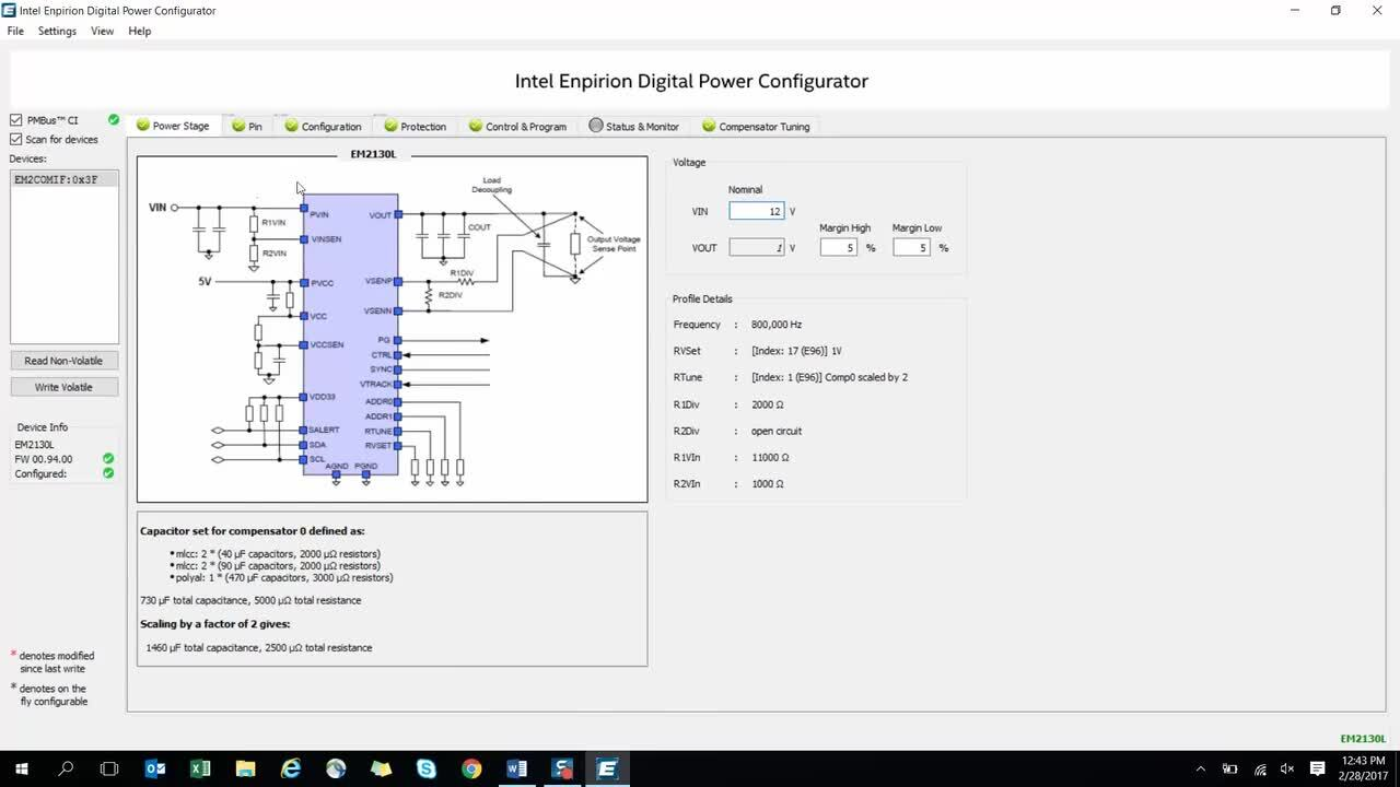 Overview of the Intel Enpirion Digital Power Configurator GUI