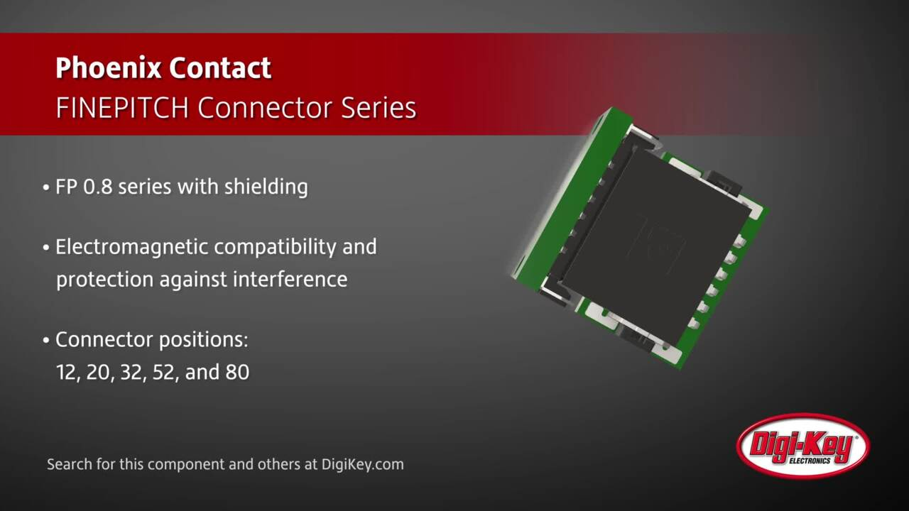 Phoenix Contact FINEPITCH Connector Series | Digi-Key Daily