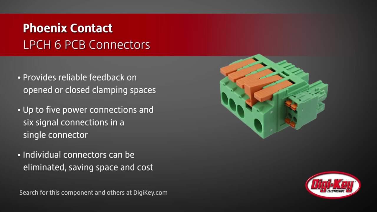 Phoenix Contact LPCH 6 PCB Connectors | Digi-Key Daily